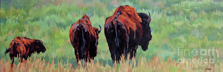 Bison Painting - TRI by Patricia A Griffin