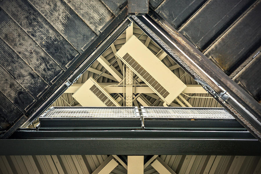 4 O'clock Photograph - Triangle Ceiling by Sennie Pierson