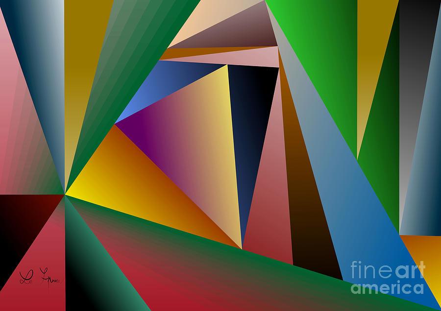 Triangle Digital Art - Triangles by Leo Symon