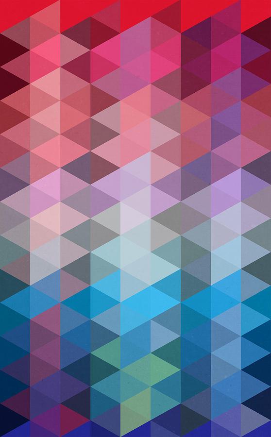 Contemporary Painting - Triangles by Mark Ashkenazi
