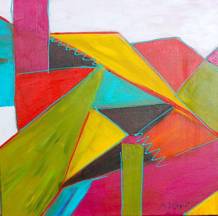 Painting Painting - Triangles by Mary Wassil