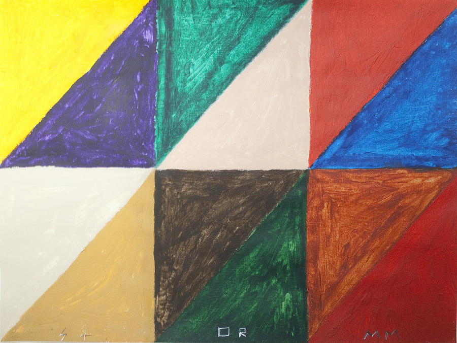 Triangles Painting - Triangles by Stormm Bradshaw