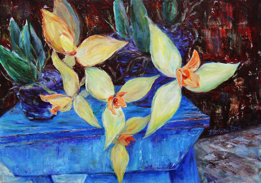 Still Life Painting - Triangular Blossom by Xueling Zou