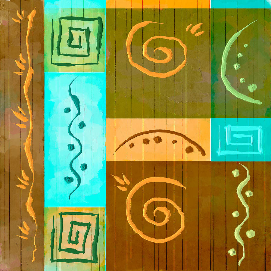 Tribal Painting - Tribal Abstract by Brenda Bryant