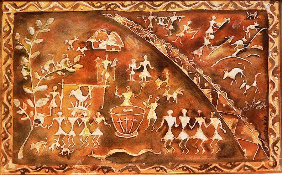 India Painting - Tribal Art by Geeta Biswas