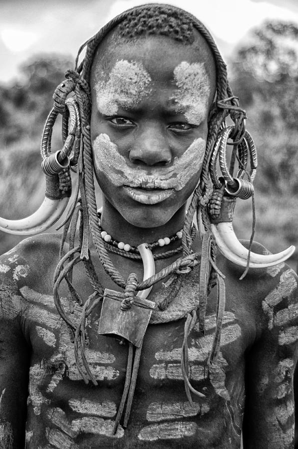 Tribal decoration mursi tribe ethiopia photograph by rod for African body decoration