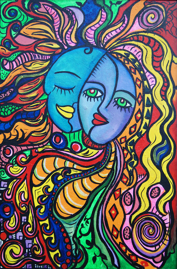 Tribal Painting - Tribal Love by Lorinda Fore and Tony Lima