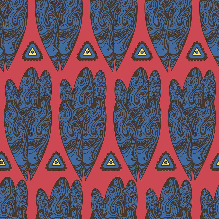 Tribal Pattern Digital Art by Suriko