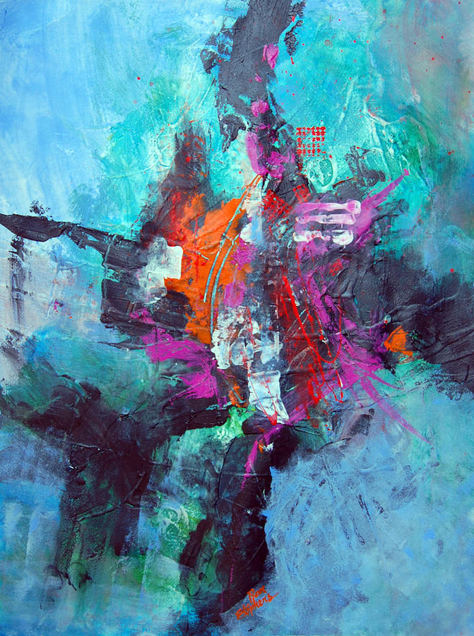 Abstract Painting - Tribal by Ron Stephens