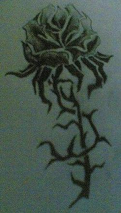 Rose Drawing - Tribal Rose by Ashley OBrien