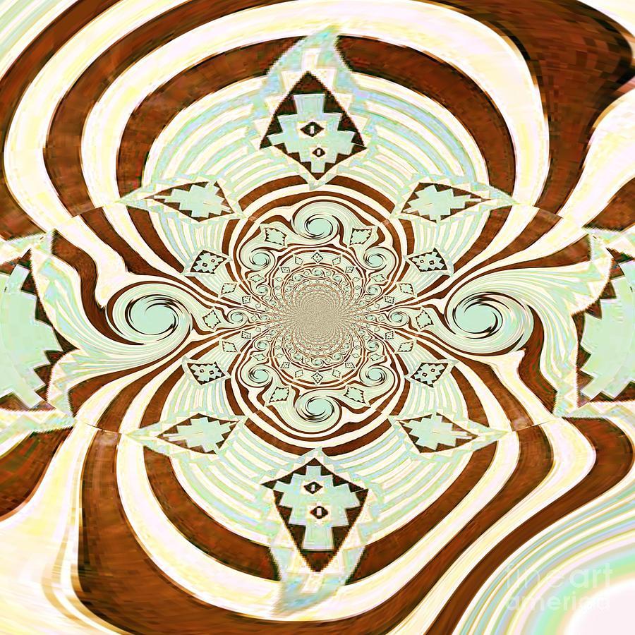 Digital Digital Art - Tribal Stripe Field Of Dreams by Mj Petrucci