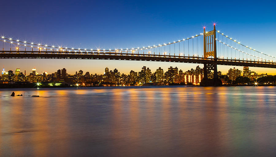 Triborough Bridge Photograph - Triborough From Queens by Chris Halford
