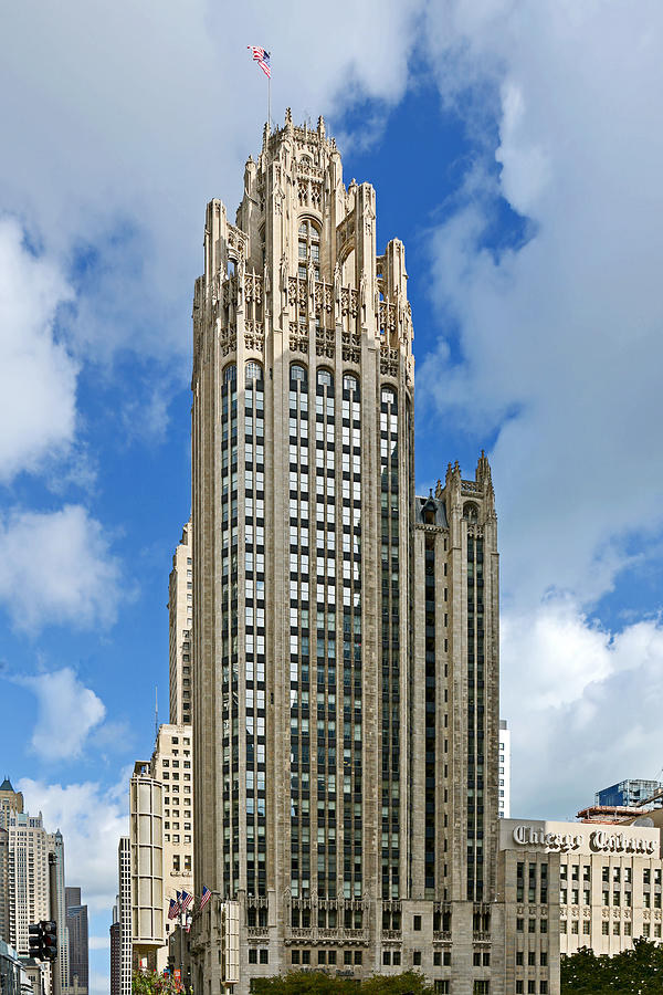 Michigan Photograph - Tribune Tower - Beautiful Chicago Architecture by Christine Till