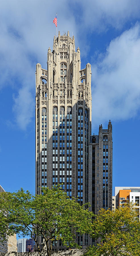 Michigan Photograph - Tribune Tower Chicago - History Is Part Of The Building by Christine Till