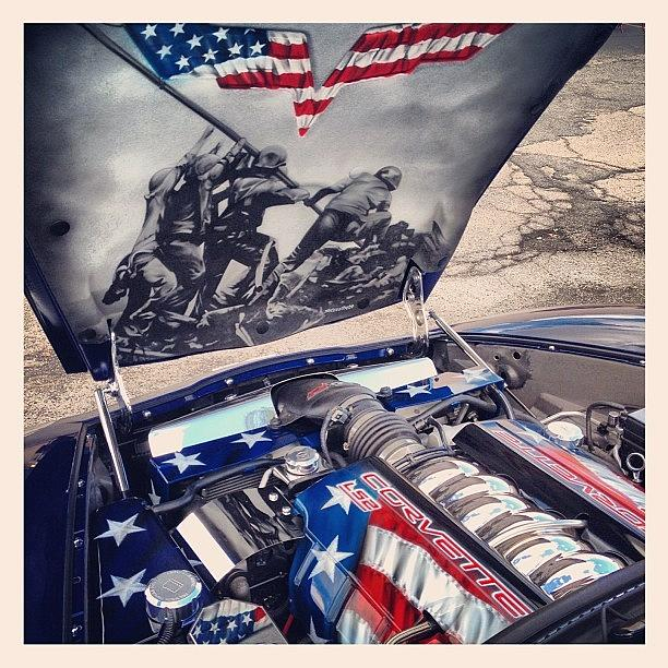 Hemi Photograph - Tribute #corvette To All Veterans #usa by Mike Maher