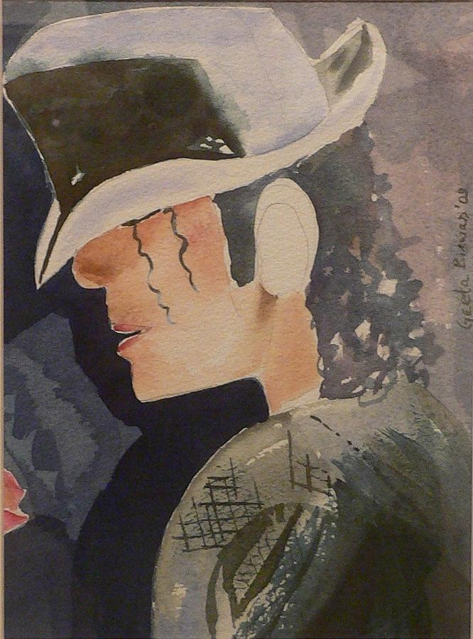 Michael Jackson Painting - Tribute by Geeta Biswas