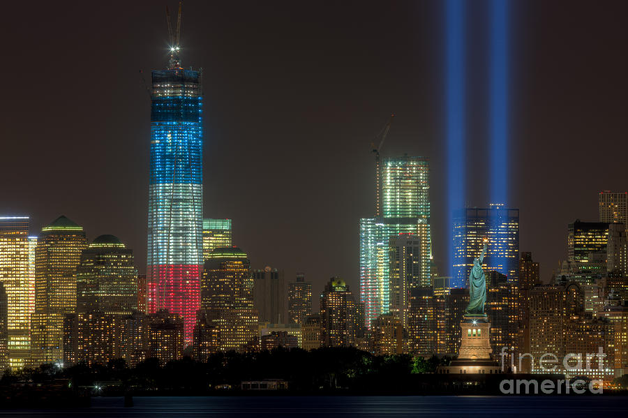 Clarence Holmes Photograph - Tribute In Light Xiii by Clarence Holmes