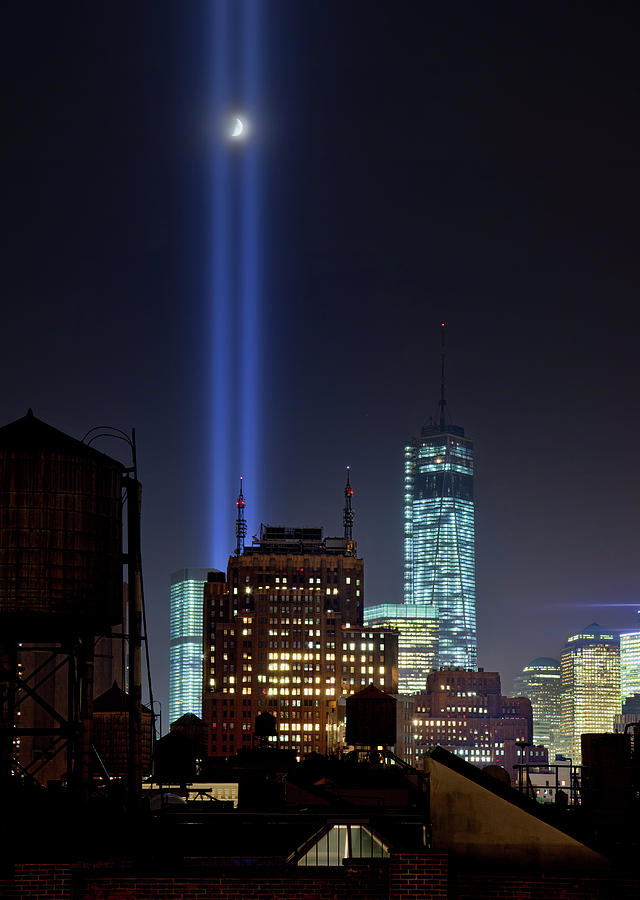Tribute In Lights 2013 Photograph by Stanley K Patz