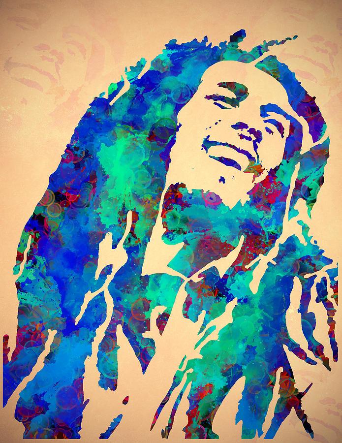 Tribute To Bob Marley Watercolor Painting Painting By Georgeta Blanaru