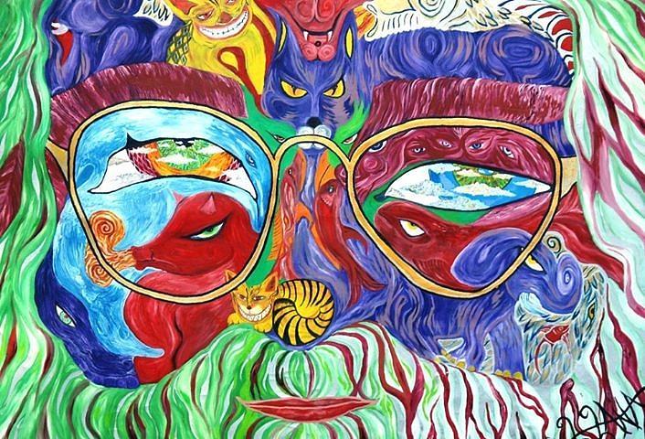 Jerry Garcia Painting - Tribute To Jerry Garcia by  Artist Alfredo Dane Llana