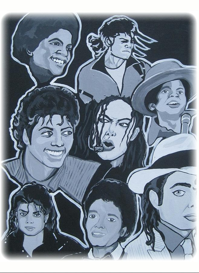 Michael Painting - Tribute To Michael Jackson by Gary Niles
