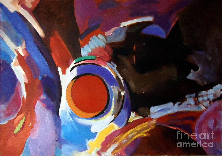 Abstract Paintings Painting - Tribute To Raul Russo by Helena Wierzbicki