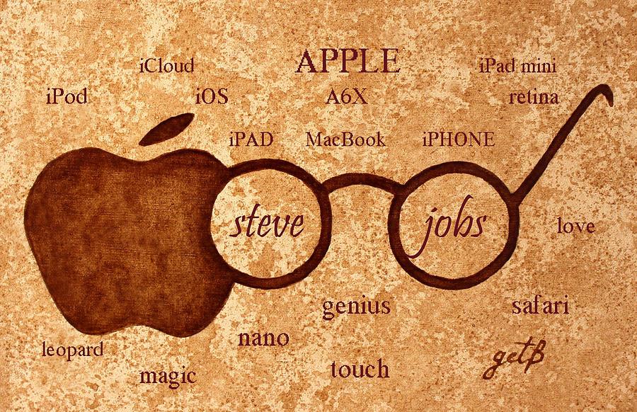 Steve Jobs Painting - Tribute To Steve Jobs 2 Digital Art by Georgeta  Blanaru