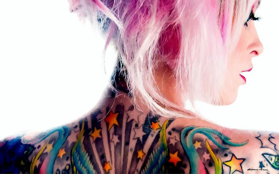 Tattoo Girl Digital Art - Tribute to Suicide Girls 3 by Gabriel T Toro