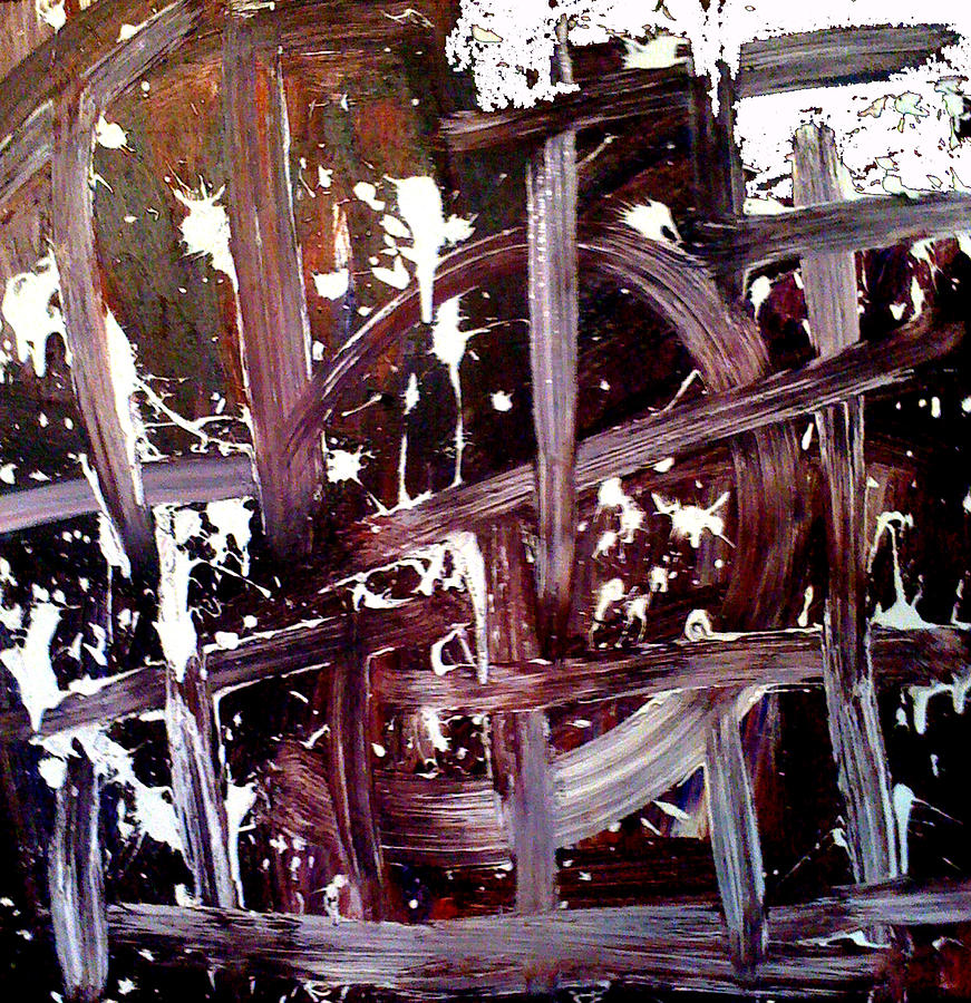 Tapies Painting - Tribute To Tapies by Ernesto Akaba