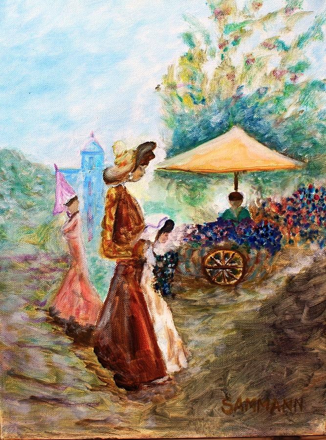 Women Painting - Tribute To The Masters by Ron Sammann