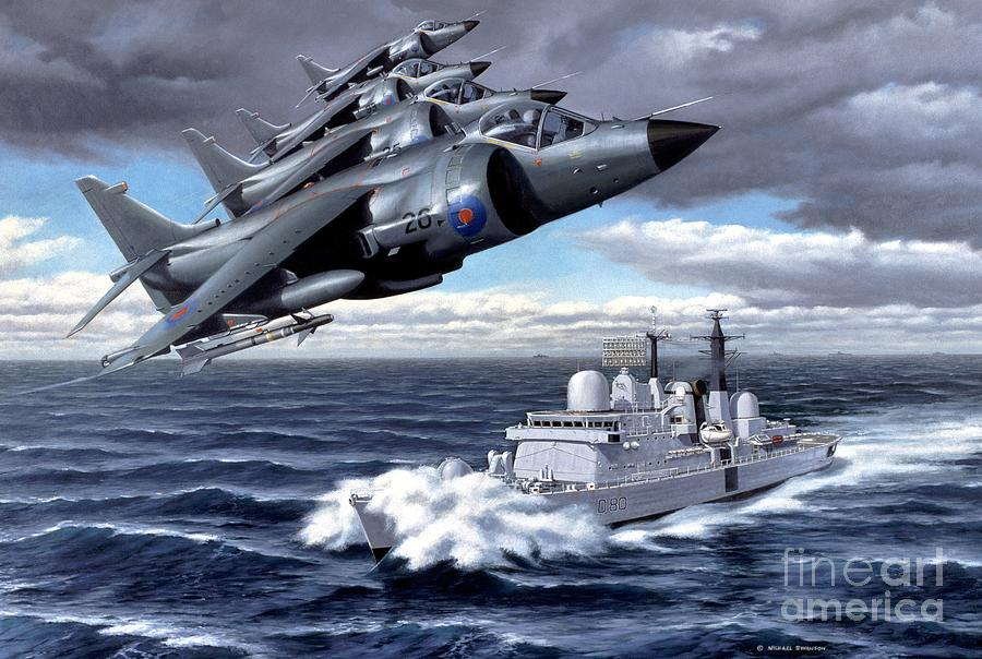 Falklands Painting - Tribute To Valour by Michael Swanson