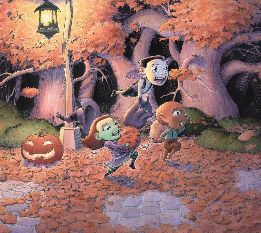 Halloween Painting - Trick Or Treat by Richard Moore