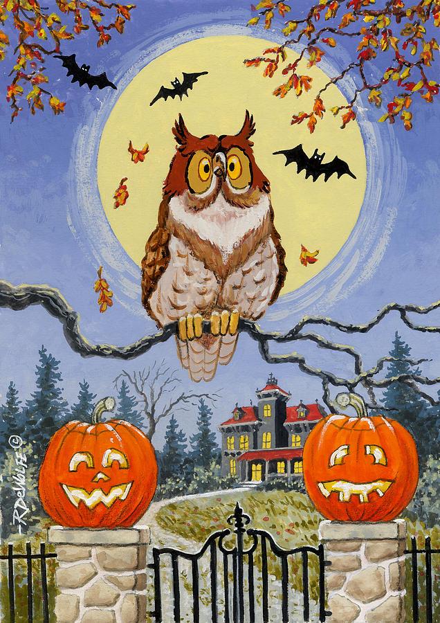 Halloween Painting - Trick Or Treat Street by Richard De Wolfe