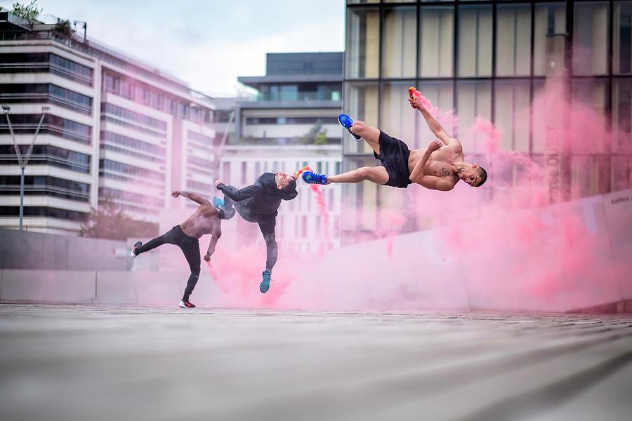 Capoeira Photograph - Tricking With Ahmed Chouikhi, Mehdi Ahrad & Kevin Karlton by Tristan Shu
