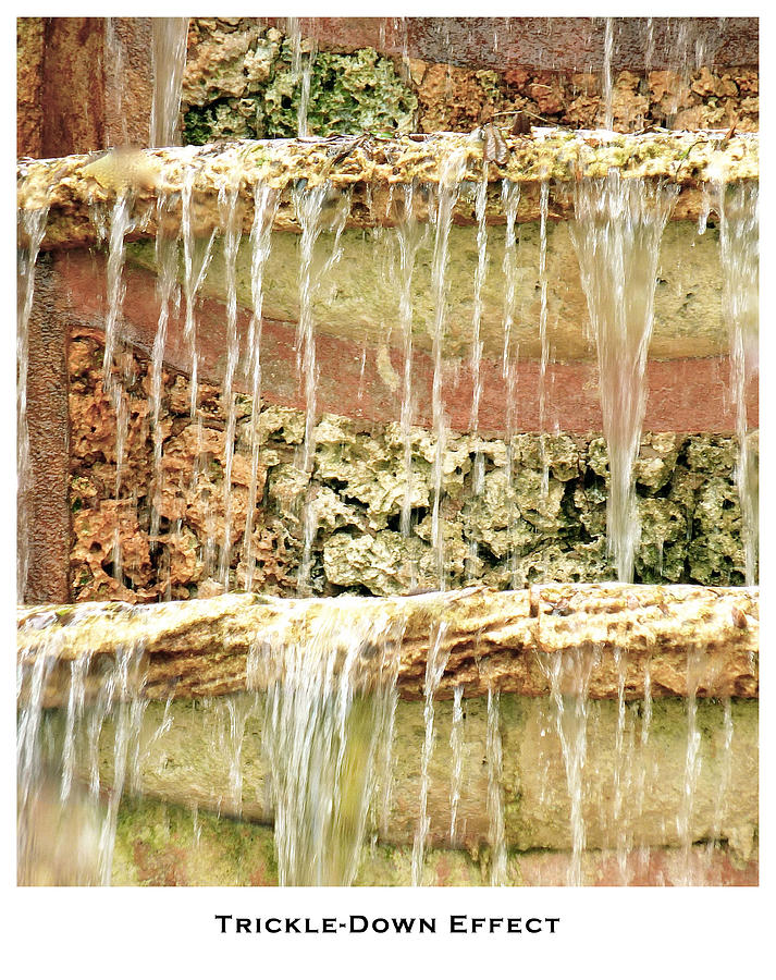 Fountains Photograph - Trickle-down Effect by Lorenzo Laiken