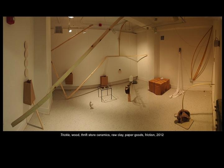 Site-specific Installation Sculpture - Trickle by Ian Thomas