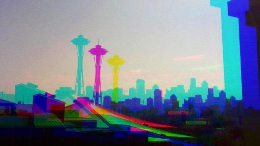 Seattle Space Needle Photograph - Tricolor Seattle Space Needle by Eddie G