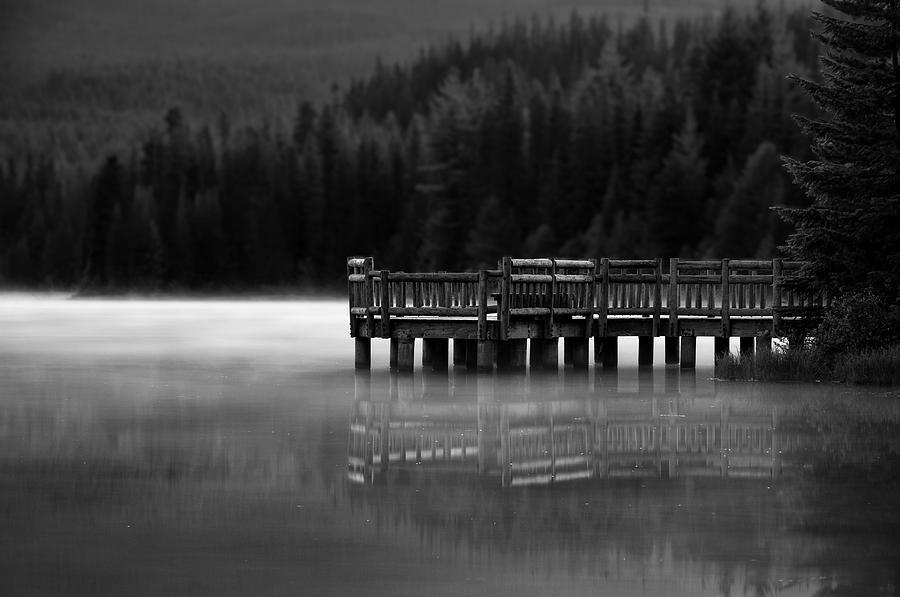Mt. Hood Photograph - Trillium Dock by Brian Bonham