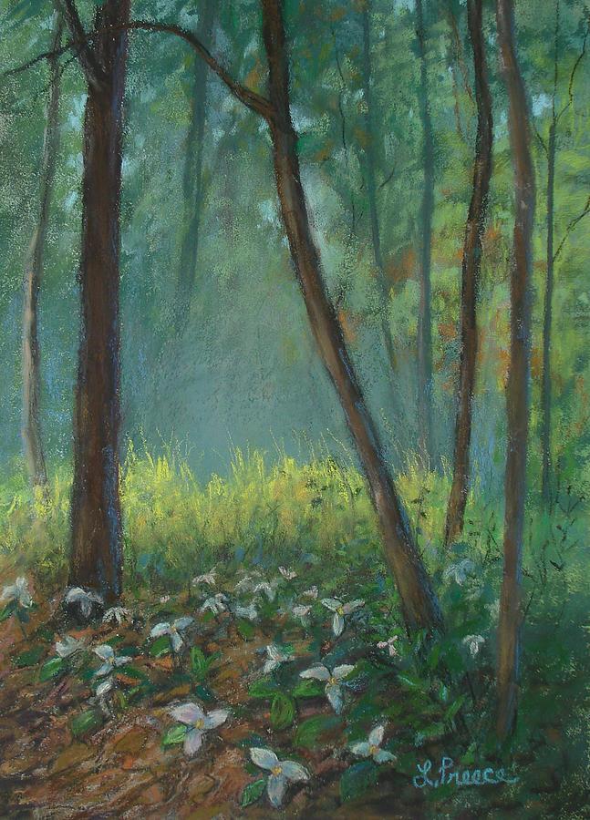 Trillium Painting - Trillium Trail by Linda Preece