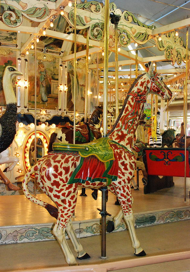 Carousel Photograph - Trimpers Carousel 2 by Francie Davis