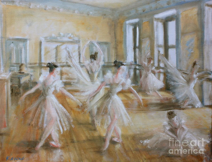 Ballet Painting - Tring Park The Ballet Room by Yvonne Ayoub