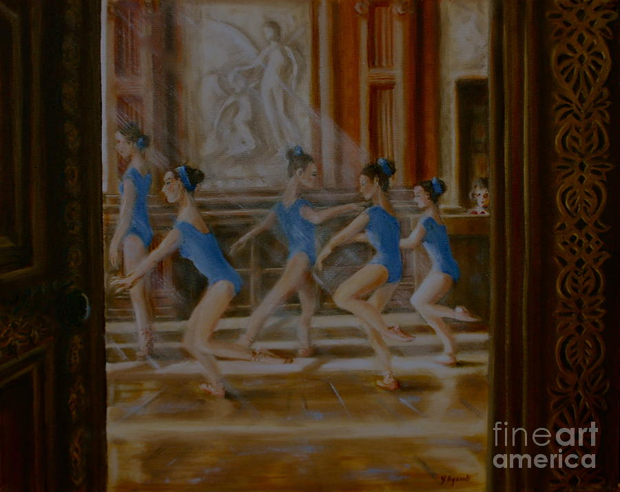 Ballet Painting - Tring Park The Ballroom by Yvonne Ayoub