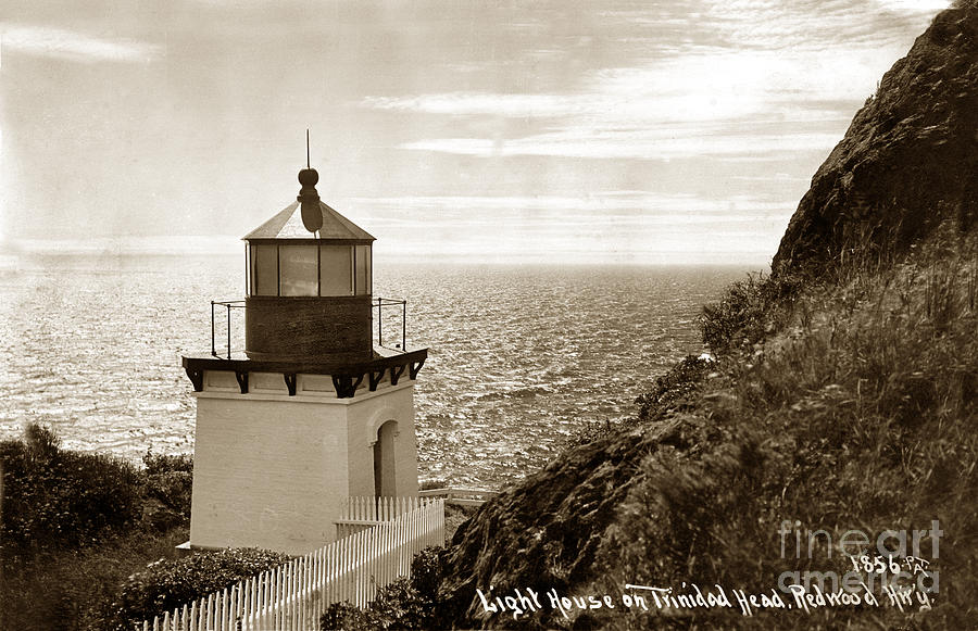 Lighthouses Photograph - Trinidad Head Light Humboldt County California 1910 by California Views Mr Pat Hathaway Archives