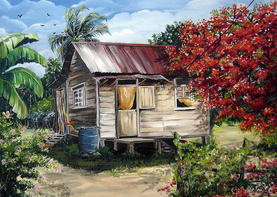 Trinidad Life 1  Painting by Karin  Dawn Kelshall- Best