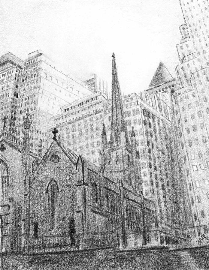 Trinity Church Sketch by Duane Gordon