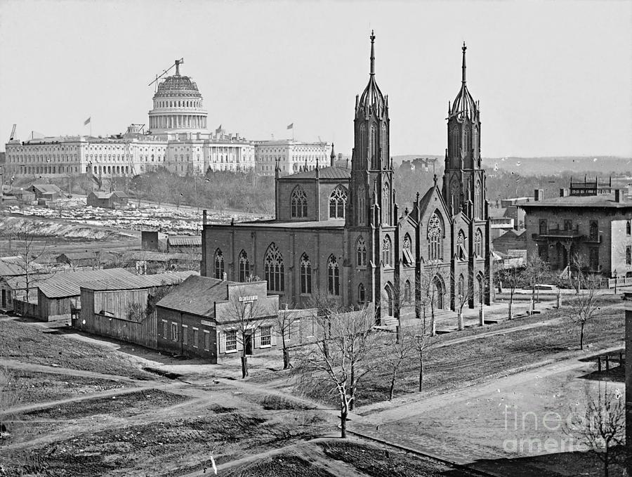 Washington D.c. Photograph - Trinity Episcopal Church 1862 by Padre Art