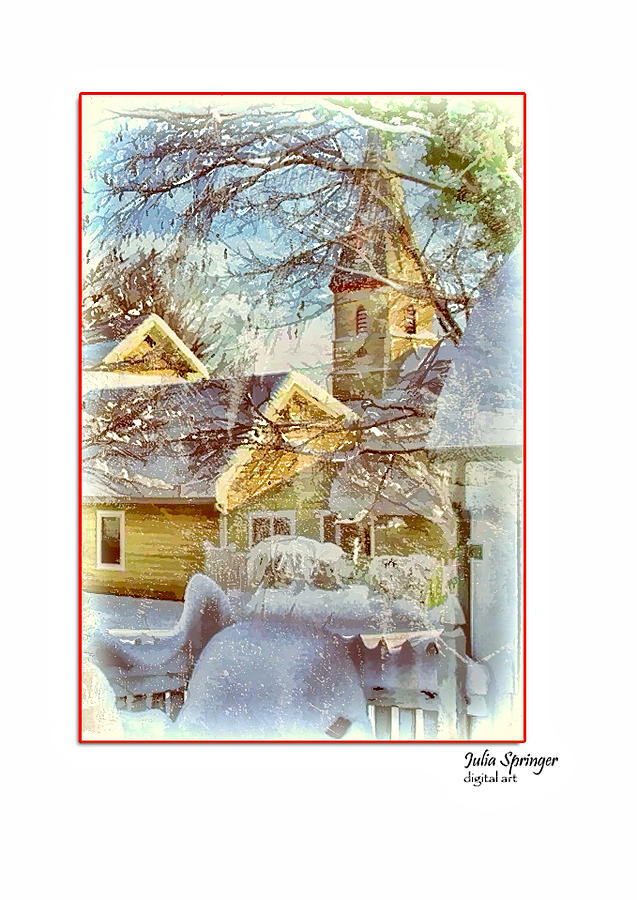 Julia Springer Photograph - Trinity Episcopal Church In The Snow - Shepherdstown  by Julia Springer