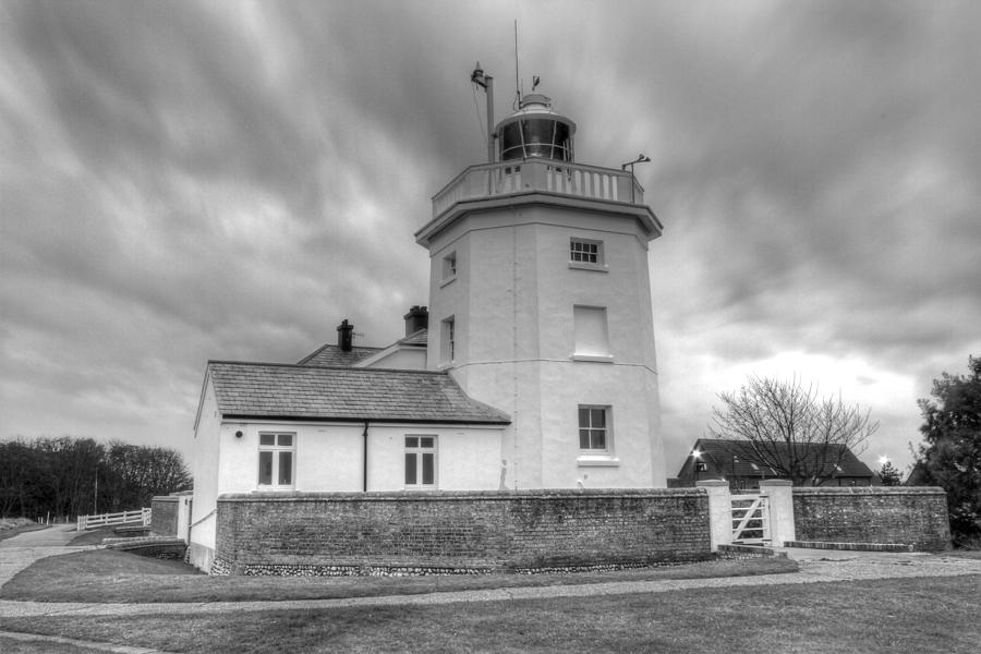 Cromer Photograph - Trinity House Lighthouse Bw by David French