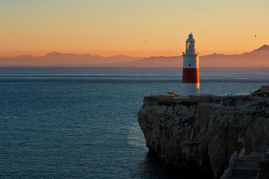 Trinity Lighthouse Gibraltar Photograph by © Allard Schager