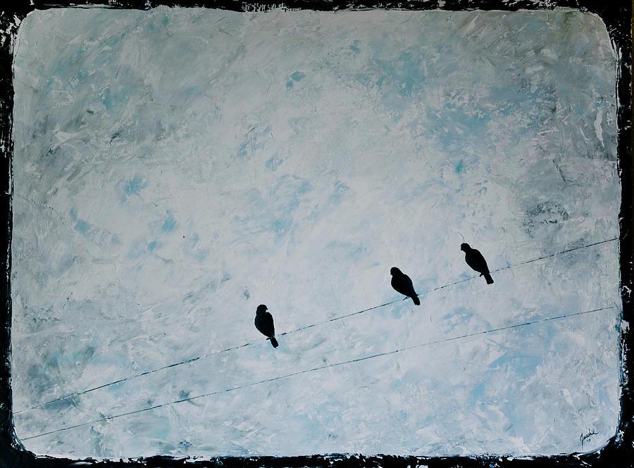 Birds Painting - Trio by Jesska Hoff